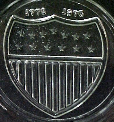 Bicentennial 1776 1976 Stars Bars 5 Collector Plate Set