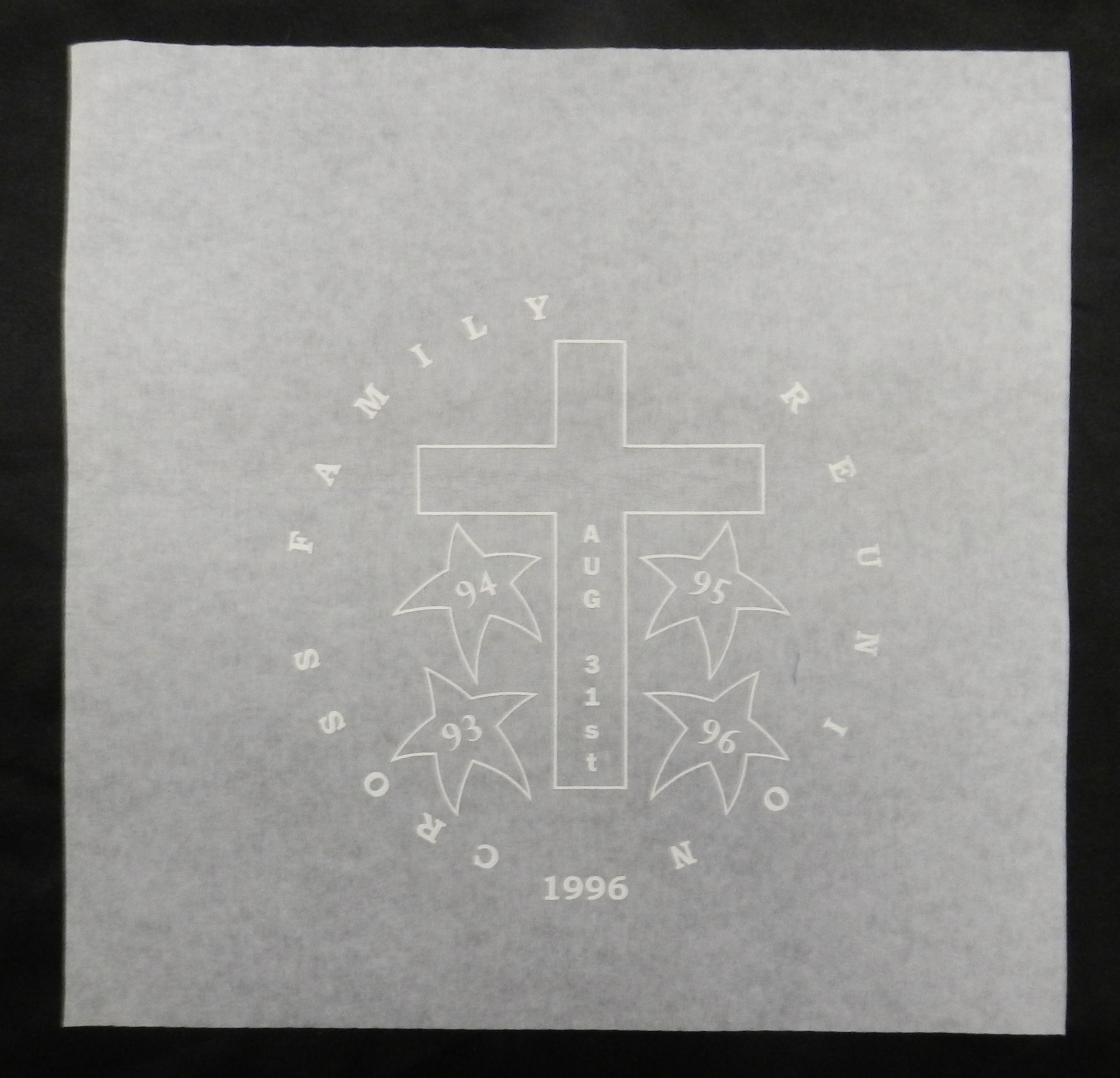 Cross Family Reunion Screen Print Transfer Wall Craft