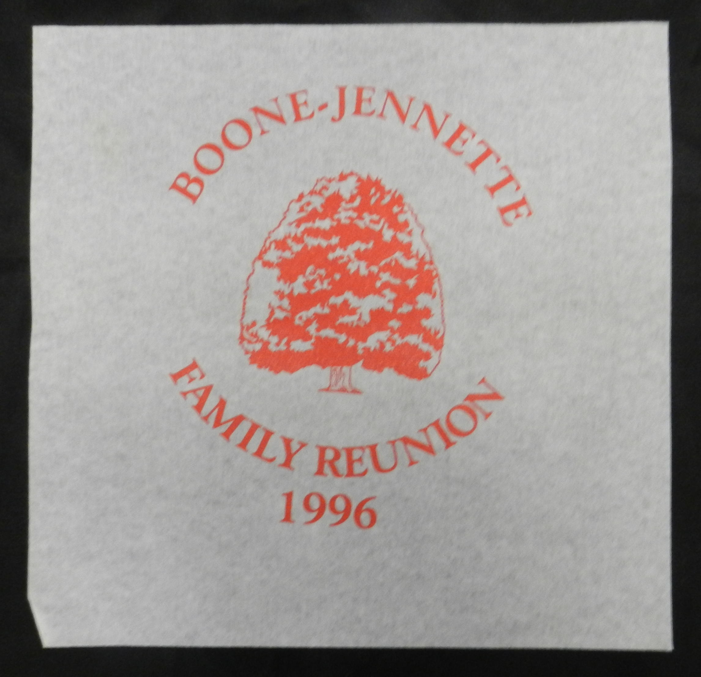 Boone Jente Family Reunion Tree Screen Print Transfer Wall