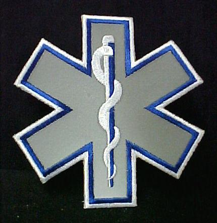 Paramedic Star Of Life. Reflective Star of Life Emblem