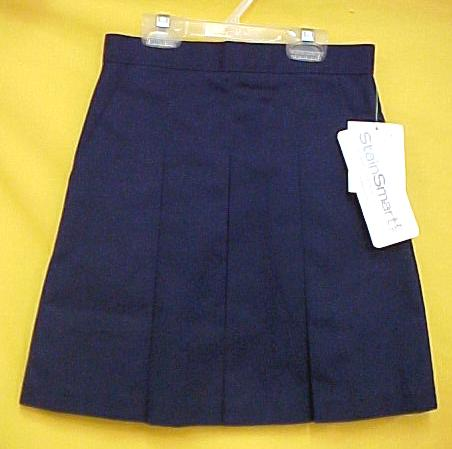 navy blue school pleated skirt size14 nwt