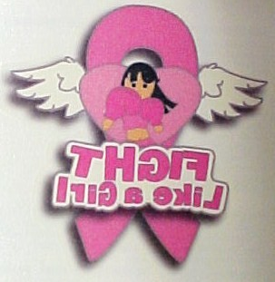 Fight like a girl breast cancer temporary tattoo 6 pc ebay for Fight like a girl tattoos pictures