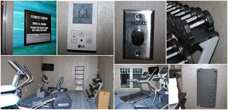 Collage of hotel fitness room resized
