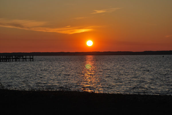 Sunset on the Chincoteague Bay 3/12/2017