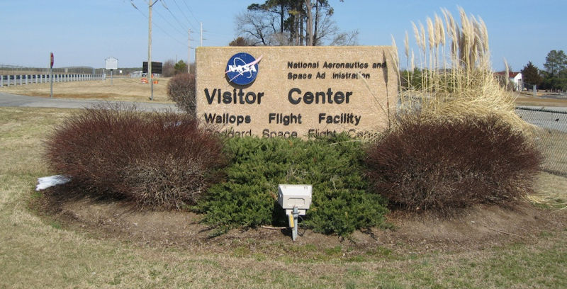 Wallops Visitor Center Sign