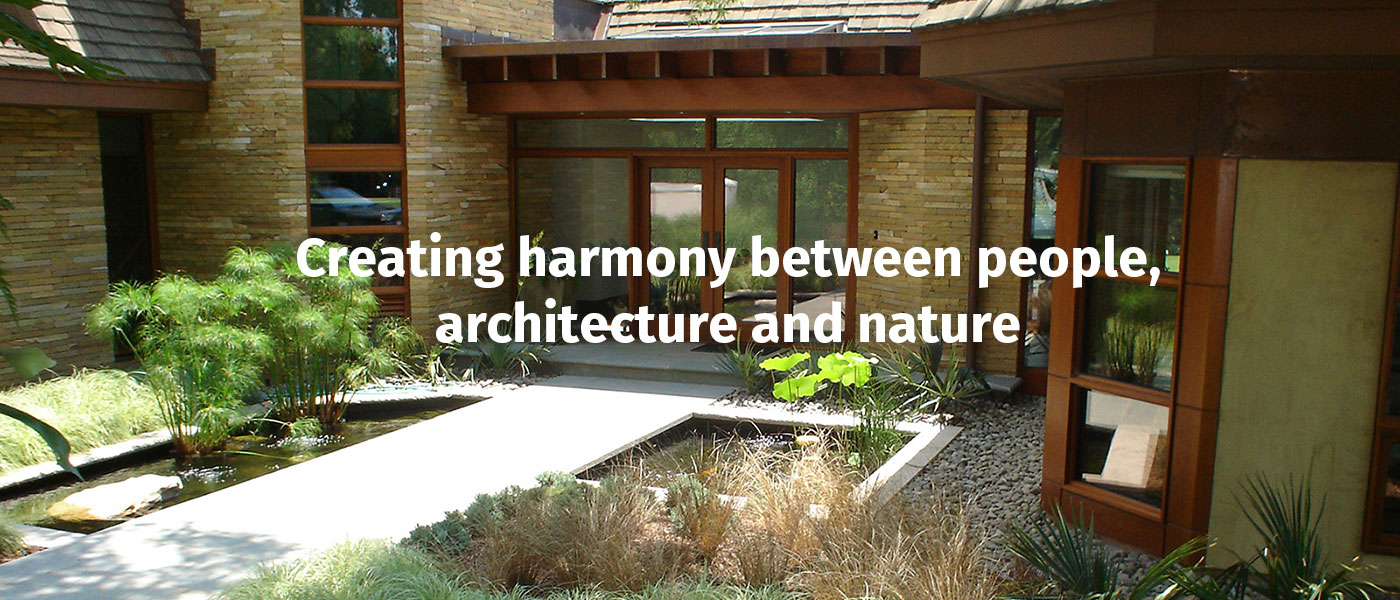 Creating harmony between people, architecture and nature
