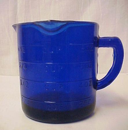 Depression Glass Cobalt Blue 3 Spout Measuring Cup New